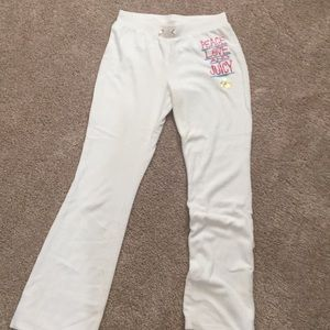 White juicy velour sweats